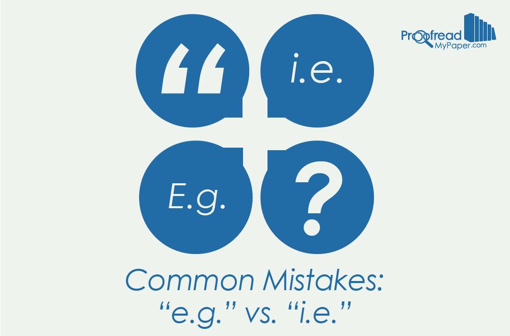 e.g. vs i.e.