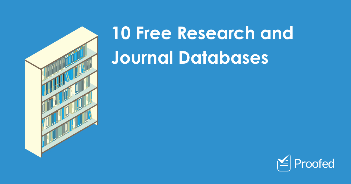 10 Free Research and Journal Databases