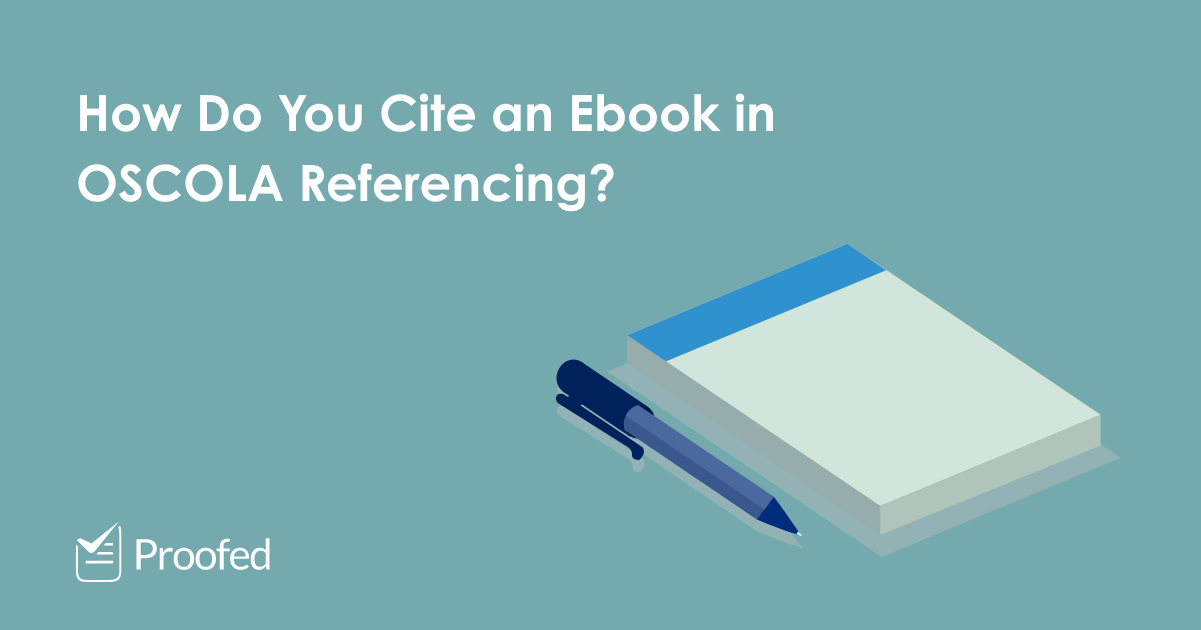 How to Cite an Ebook in OSCOLA Referencing