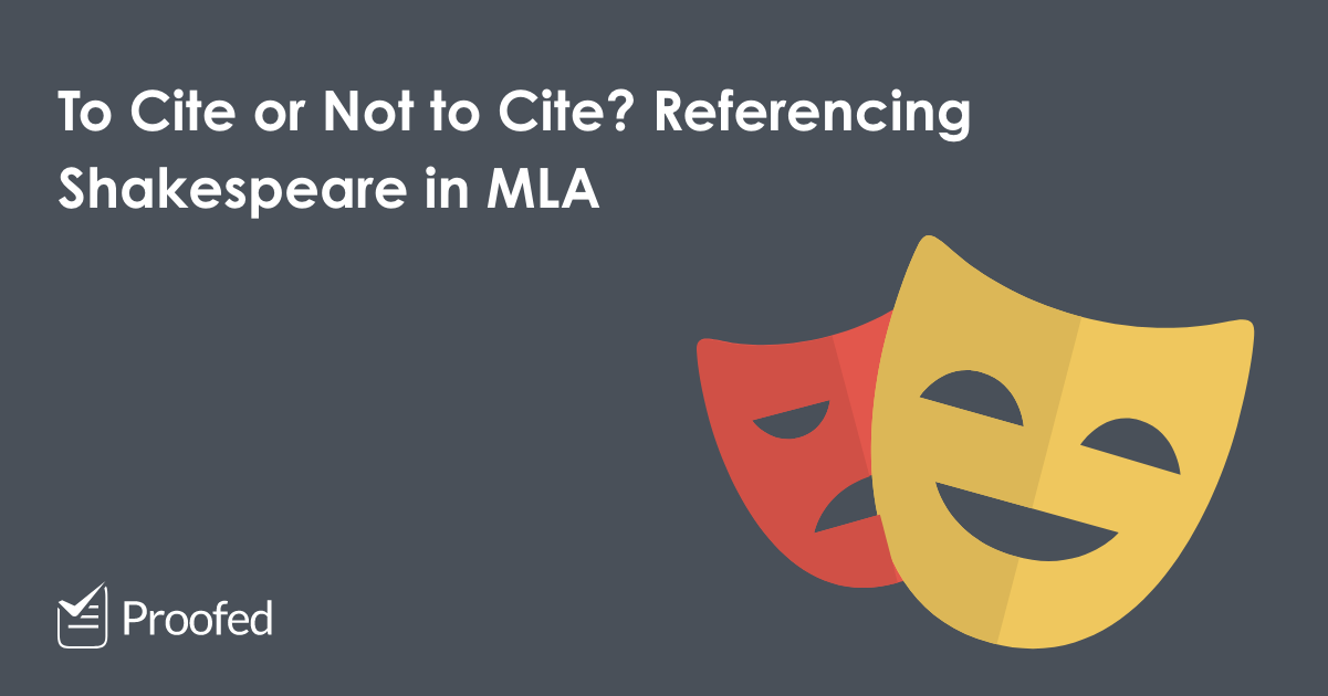 How to Cite Shakespeare in MLA Referencing
