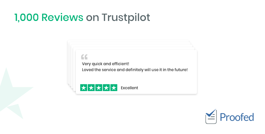 Proofed Hits 1,000 Reviews On Trustpilot