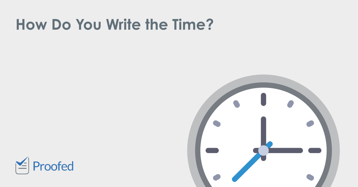 How to properly write time
