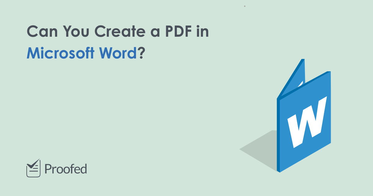 How to Create a PDF in Microsoft Word