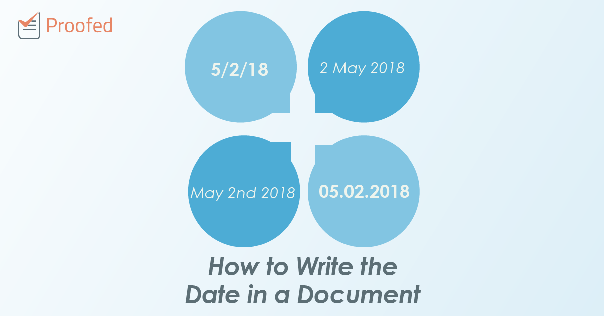 How To Write The Date In A Document Proofed S Writing Tips