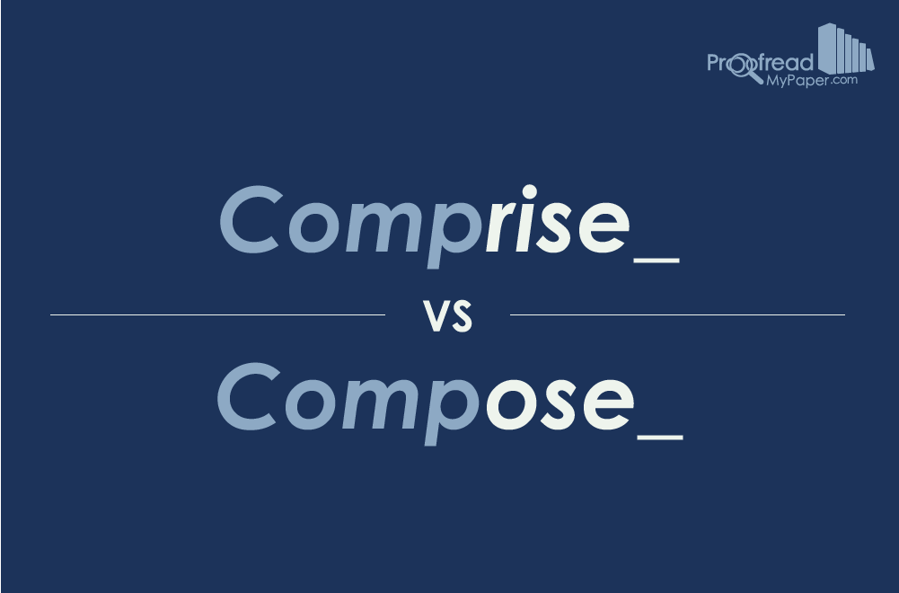 Word Choice: Comprise vs. Compose