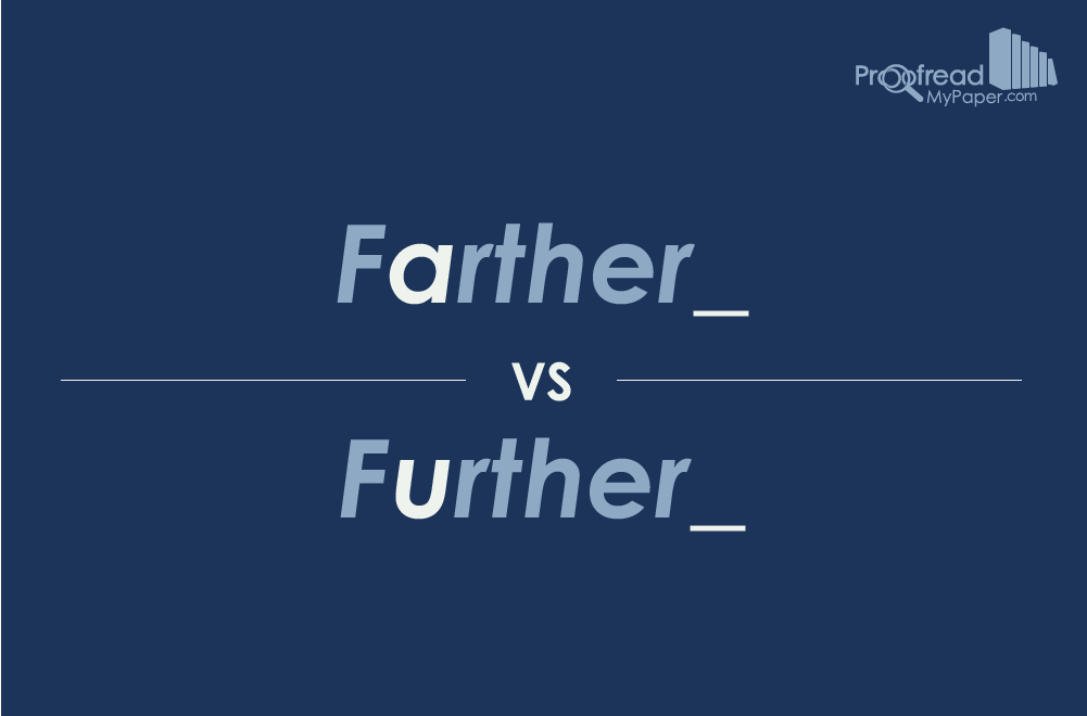 Farther vs Further