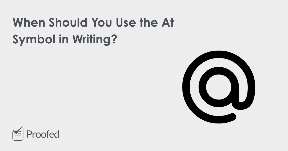 When to Use the At Symbol (@) in Writing