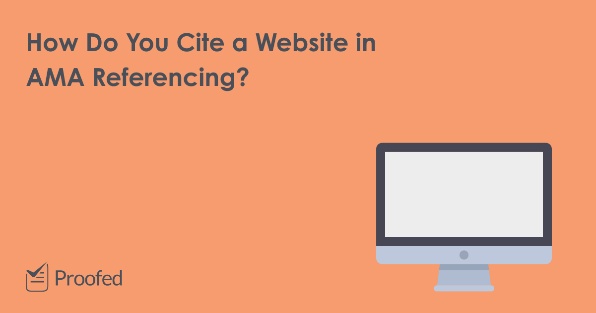 How to Cite a Website in AMA Referencing