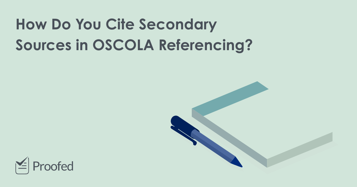 Citing Secondary Sources in OSCOLA Referencing