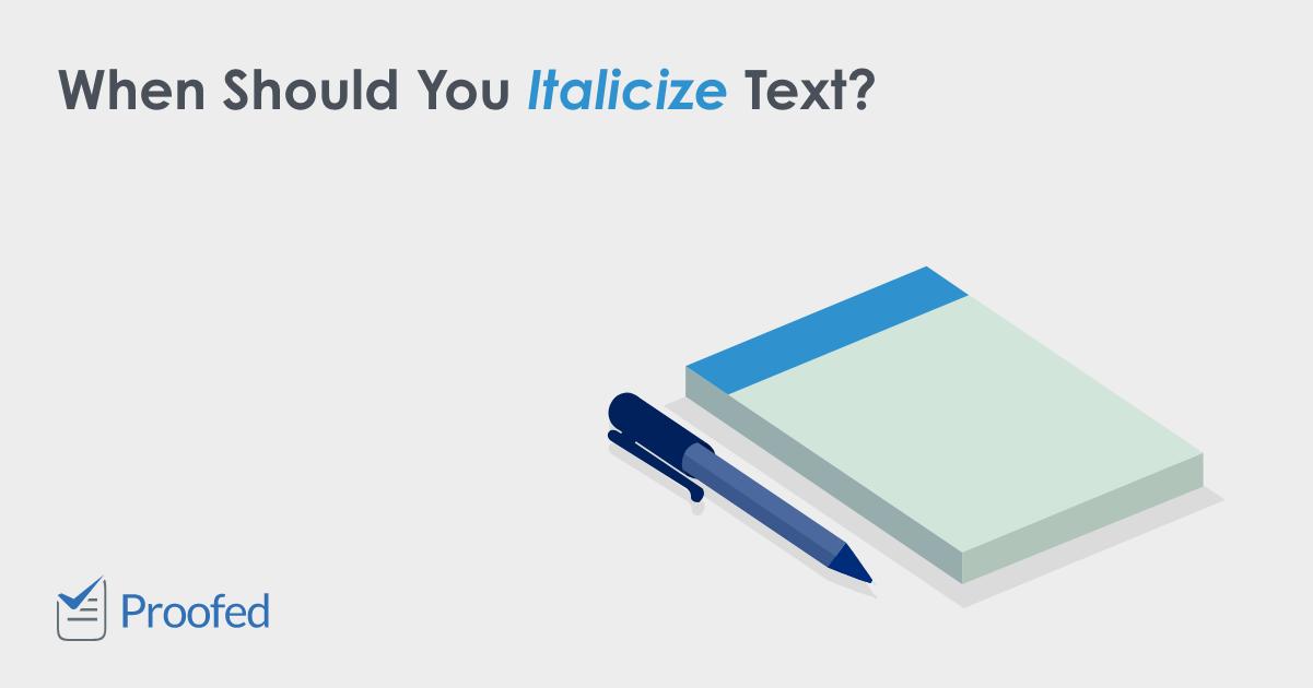 Italics – US