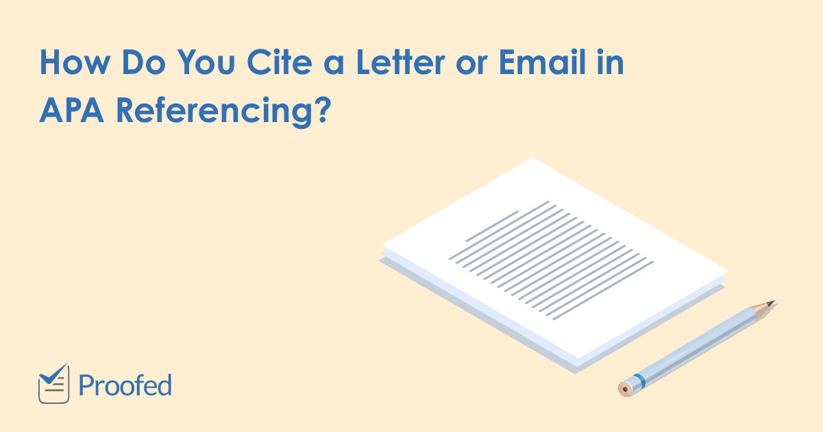How to Cite Personal Correspondence in APA Referencing