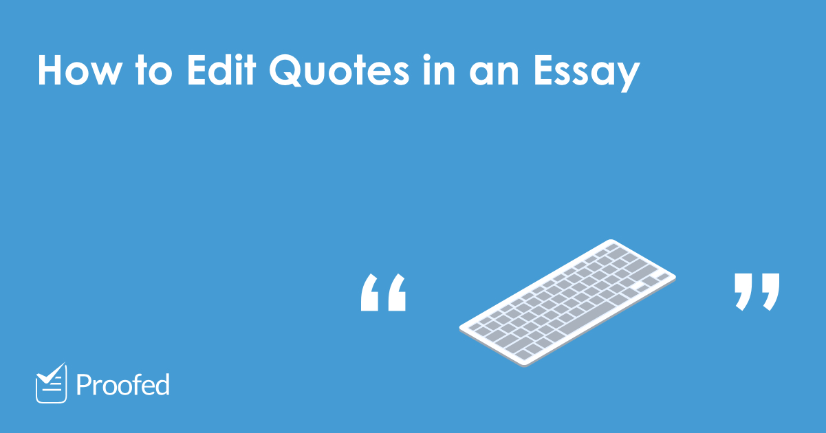 How to change a quote in essay
