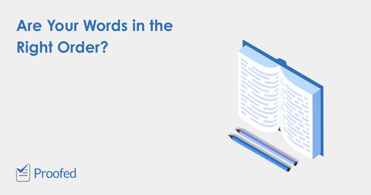 The Basics of Word Order (SVO)