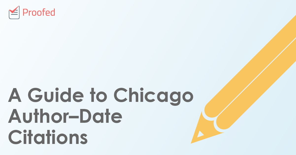 A Guide to Chicago Author–Date Citations