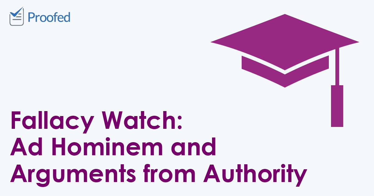 Fallacy Watch- Ad Hominem and Arguments from Authority