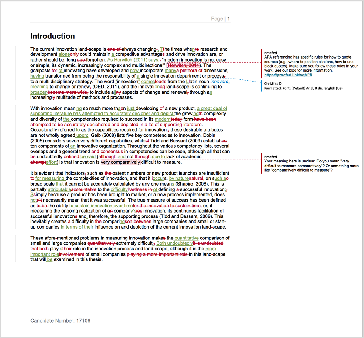 Master thesis proofreader