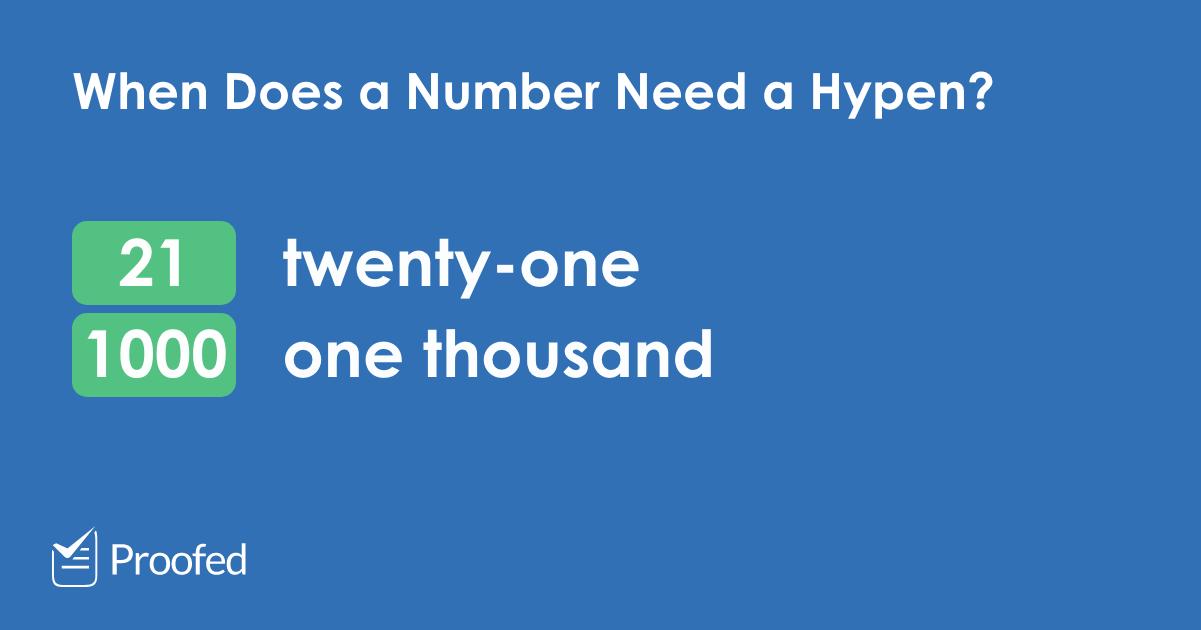 Kiedy stosować myślniki w liczbach