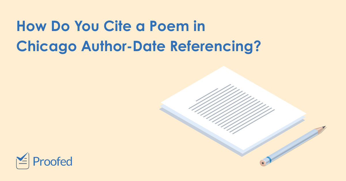 How to Cite a Poem in Chicago Author-Date Referencing