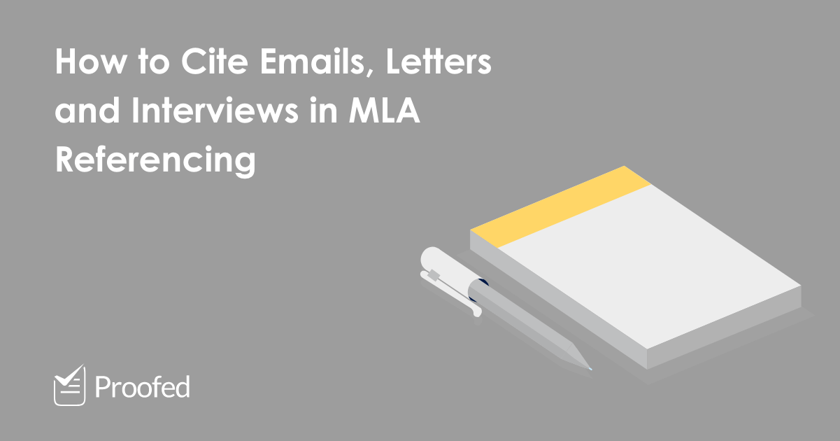 How to Cite Emails, Letters and Interviews in MLA Referencing