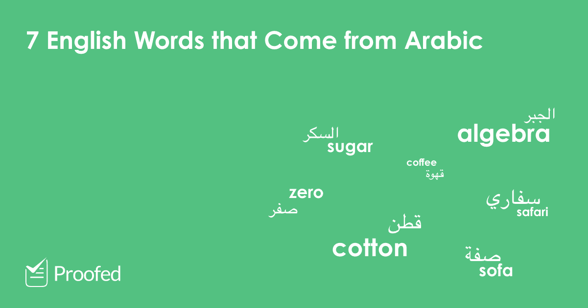 English Words that Come from Arabic
