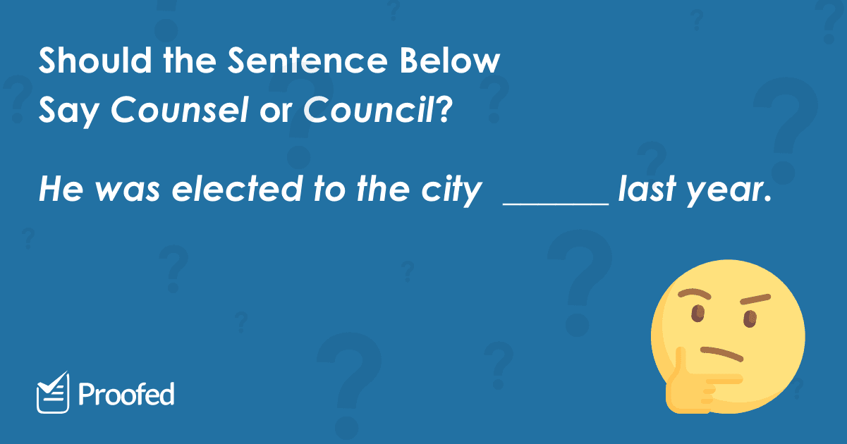 Word Choice Council vs. Counsel