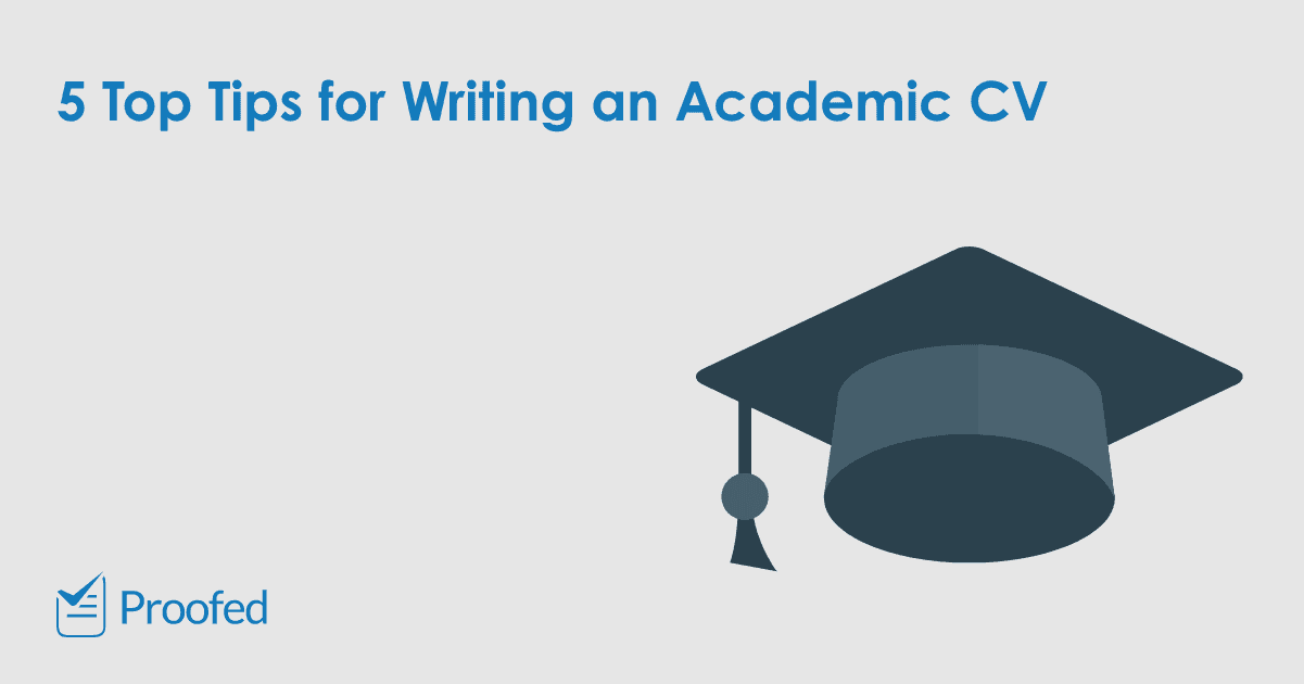 Tips for Writing an Academic CV