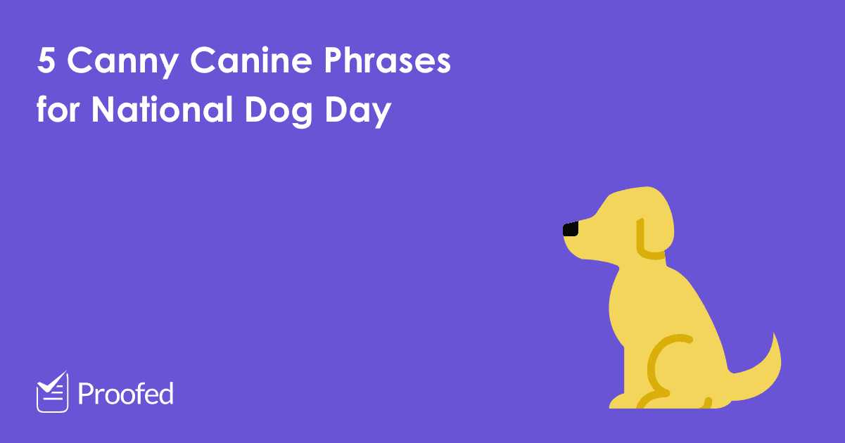 5 Canny Canine Phrases for National Dog Day