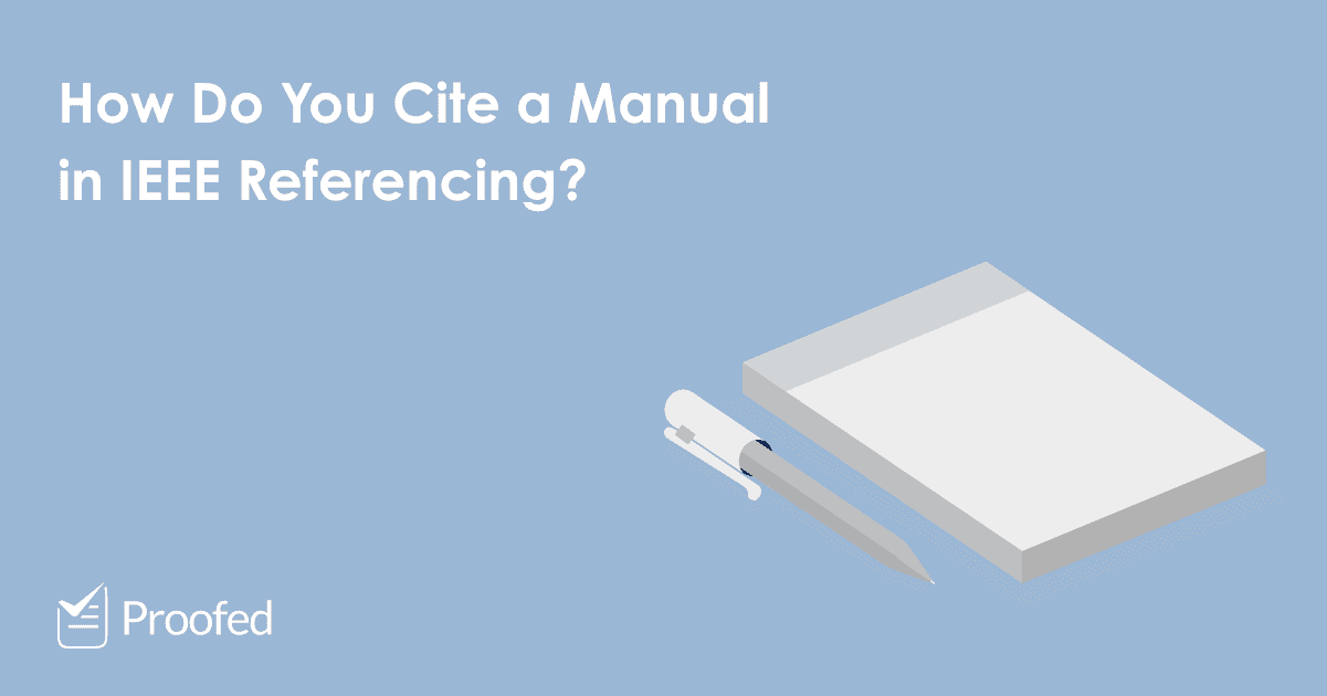 How to Cite a Manual or Handbook in IEEE Referencing
