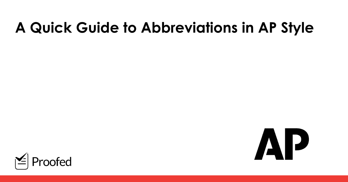 A Quick Guide to Abbreviations in AP Style