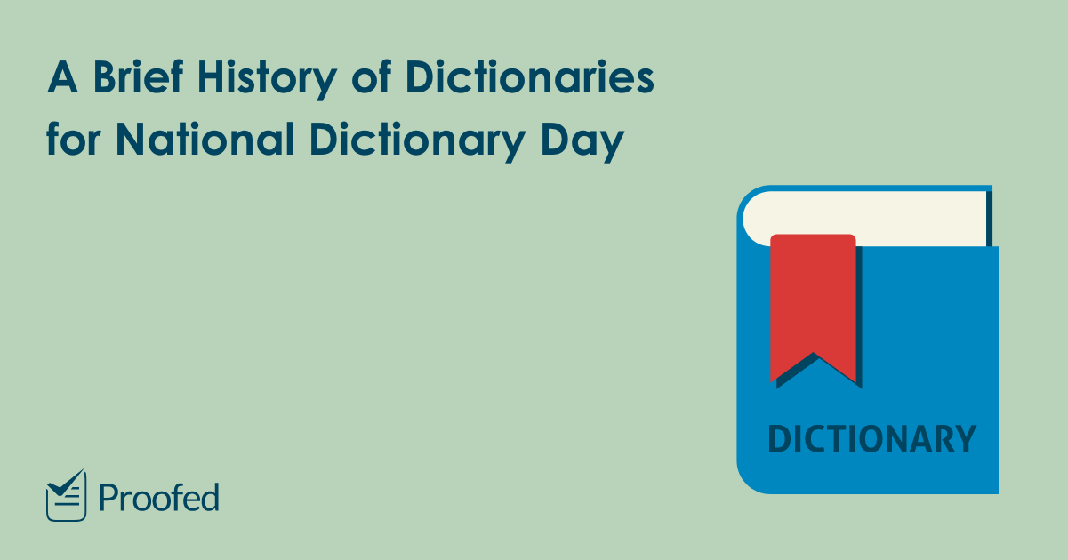 A Brief History of Dictionaries for National Dictionary Day