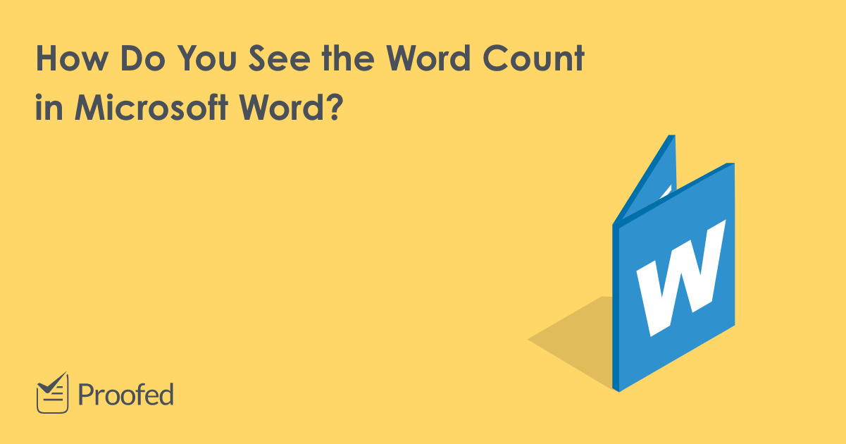 How to See the Word Count in Microsoft Word