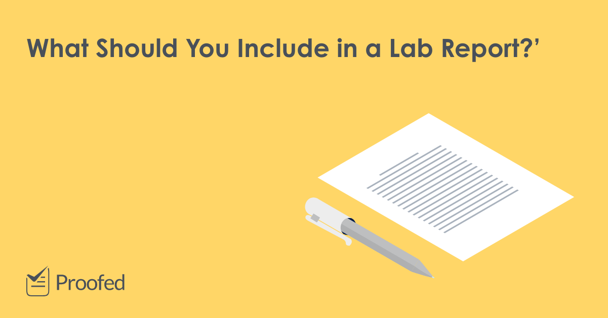 Academic Writing: How to Structure a Lab Report