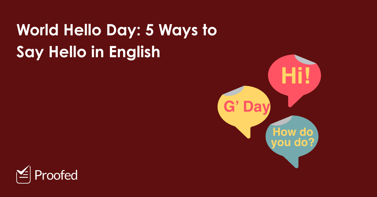 """World Hello Day: 5 Ways to Say """"Hello"""" in English"""