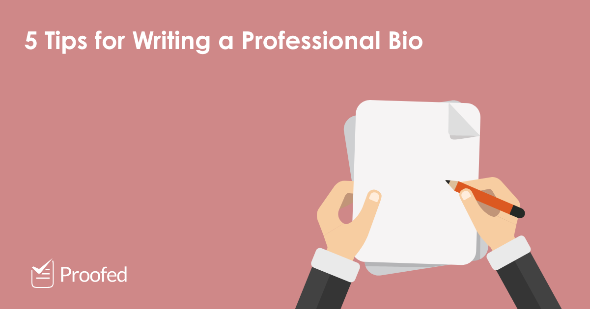 5 Tips for Writing a Professional Bio