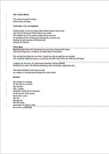 Poetry Proofreading Example (After Editing)