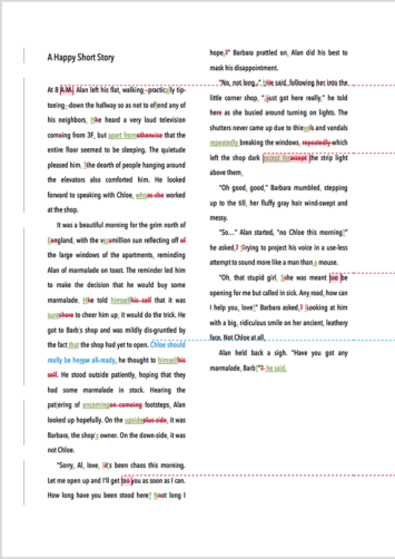Short Story Proofreading Example (After Editing)