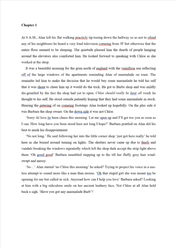 ODT Proofreading Example (Before Editing)