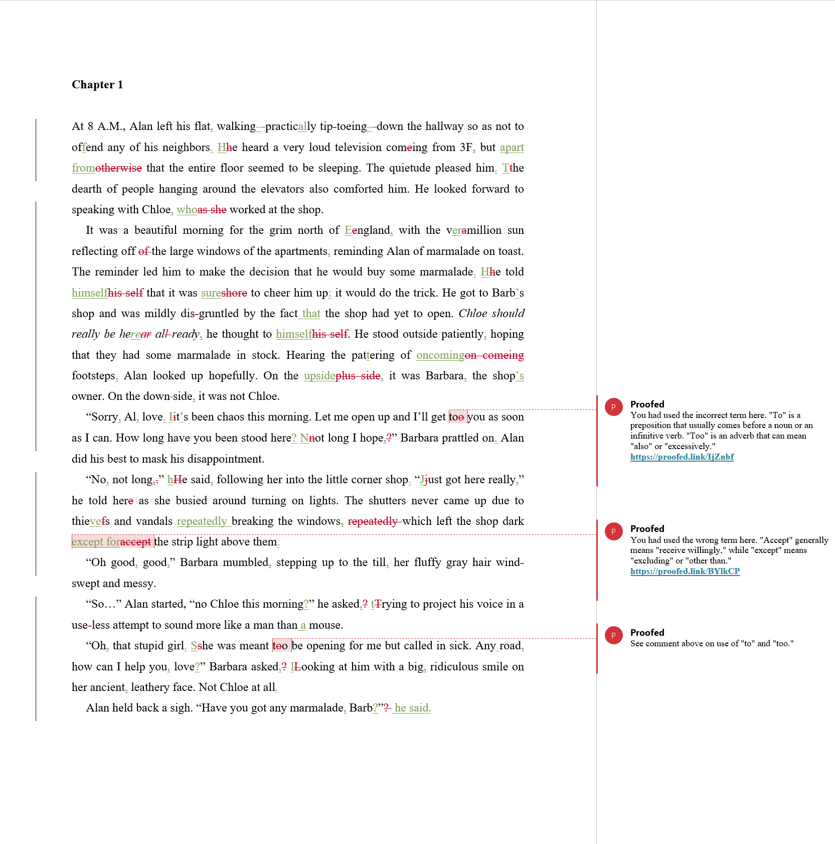 ODT Proofreading Example (After Editing)