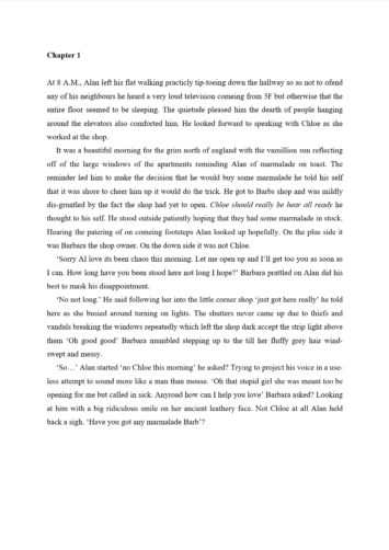Book Proofreading Example (Before Editing)