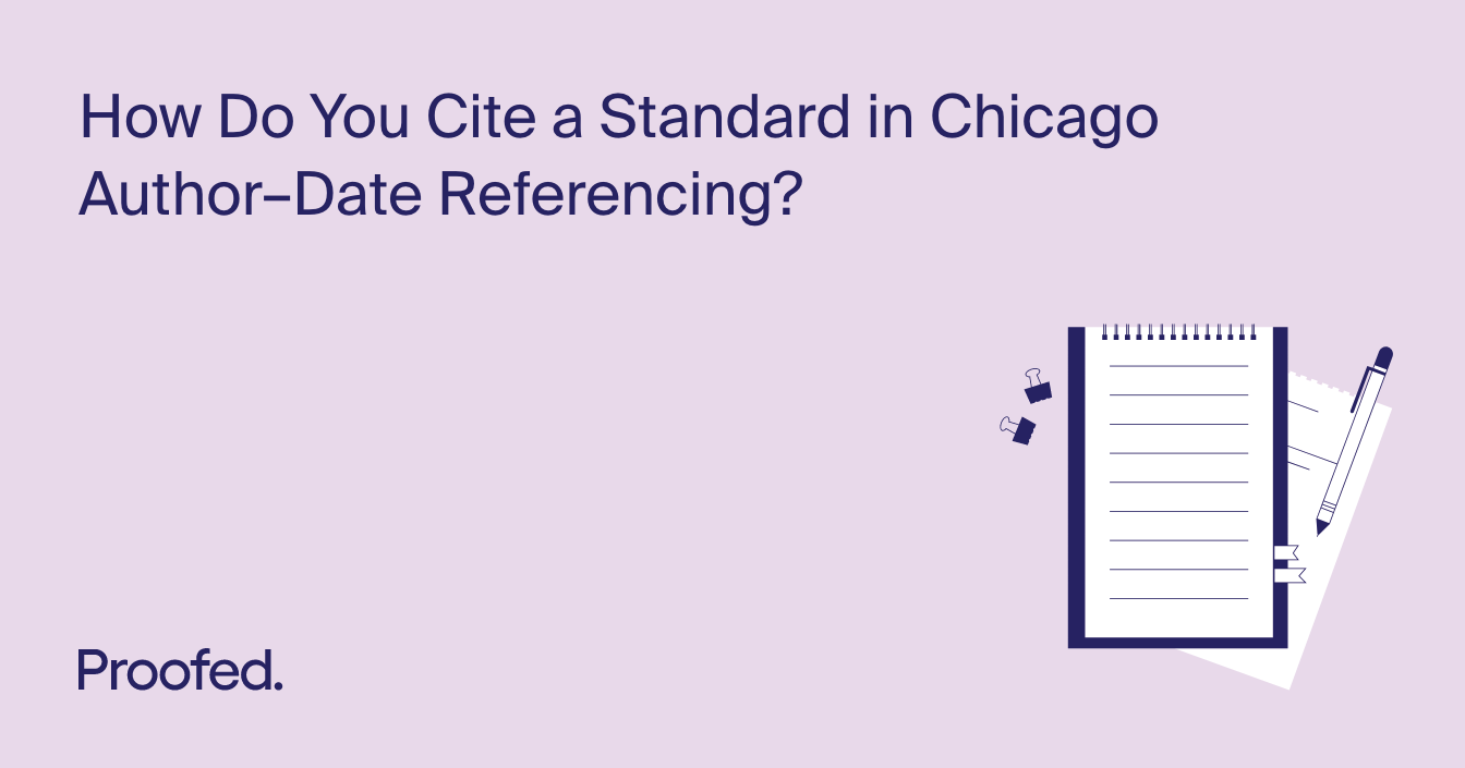 How to Cite a Standard in Chicago Author–Date Referencing